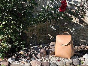 Batohy - AKCIA! Kožený ruksak NO.57 - 11060157_