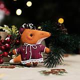 """Dekorácie - Vianočná dekorácia """"Líška"""" - 11058630_"""