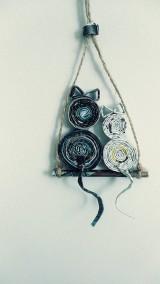Dekorácie - Mačky na mesiaci (viď foto vo vnútri) alebo len mesiac - zrecyklovaný časopis - 11058235_