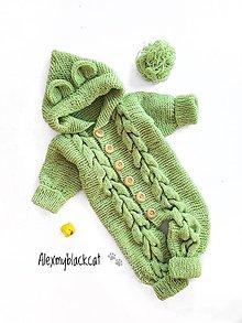 Detské oblečenie - Overal teplý pre bábätko 0-6m kombinéza (Modrá) - 11059762_