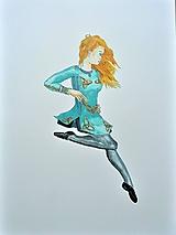 Írske tance, akvarel