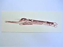 Kresby - Píšťaly a flauty, drevené dychové nástroje, zátišie, kresba - 11060857_