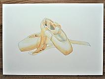 Baletné špičky, akvarel
