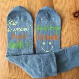 Maľované ponožky pre kreatívneho účtovníka