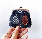 Peňaženky - Peňaženka mini  Modrý les - 11058421_