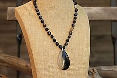 Náhrdelníky - Náhrdelník z minerálu achát - 11059025_