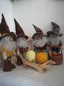 Dekorácie - Jesenný škriatkovia - 11060718_