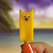 Magnetky - Nanuková magnetka - citrónová mačka - 11059898_