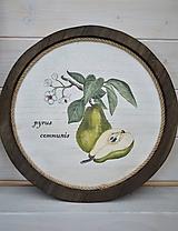 Obrázky - Drevený okrúhly botanický obrázok - 11058087_
