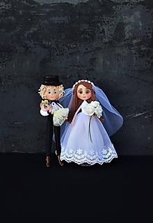 Bábiky - Svadobná dvojica ♥ - 11064406_