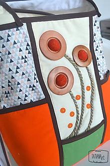 Veľké tašky - Veľká šitá taška cez rameno (7) - 11062795_