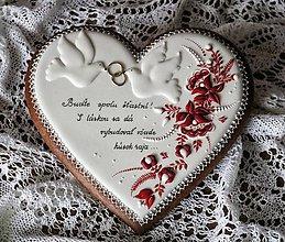 Dekorácie - Srdce pre mladomanželov - 11065432_