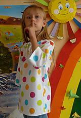 Detské oblečenie - Košieľka Veľké bodky farebné - 11065048_