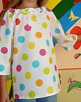 Detské oblečenie - Košieľka Veľké bodky farebné - 11065049_