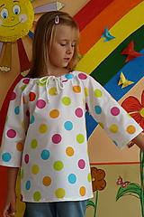 Detské oblečenie - Košieľka Veľké bodky farebné - 11065050_