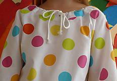 Detské oblečenie - Košieľka Veľké bodky farebné - 11065051_