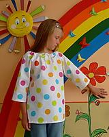 Detské oblečenie - Košieľka Veľké bodky farebné - 11065053_