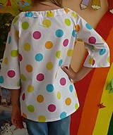 Detské oblečenie - Košieľka Veľké bodky farebné - 11065055_