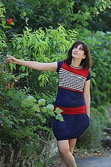 Sukne - Bambusová sukně- tmavě modrá - 11063909_