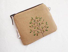 Peňaženky - Peňaženka malá - Zelený strom (s priehradkami) - 11063724_