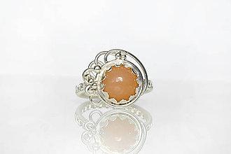 Prstene - lupienkový prsteň s mesačným k. / Ag 925 - 11063423_