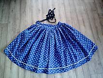 Sukne - Folklórna sukňa modrotlačová - 11064744_
