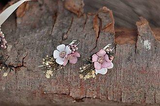 """Náušnice - Kvetinové náušnice """"Údolí stínů"""" - 11065278_"""
