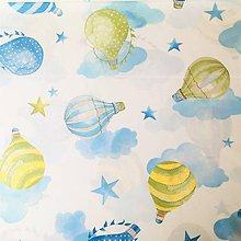 Textil - balóny; 100 % bavlna Nemecko, šírka 140 cm - 11062596_