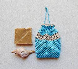 Úžitkový textil - Háčkované vrecúško - 11061450_