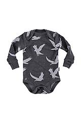 Detské oblečenie - Merino rostoucí body s extendorem dlouhý rukáv : VZORNÍK - 11062892_