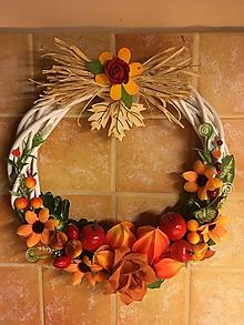 Dekorácie - Veniec na dvere : Jeseň - 11061364_