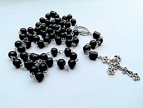 Iné šperky - Ruženec v čiernej farbe - 11064817_