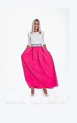 Sukne - Maxi dlhá sukňa s vreckami - 11064107_