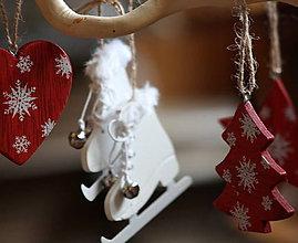 Dekorácie - Vianoce. Korčule drevené pár - 11064470_