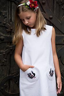 """Detské oblečenie - Biele šaty s vreckami z kolekcie """"inšpirované Abovom"""" - 11064521_"""