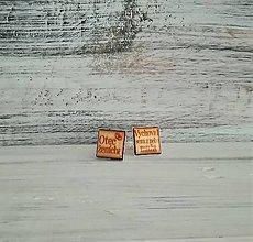 Šperky - Manžetové gombíky s textom živicové (otec ženícha) - 11061941_