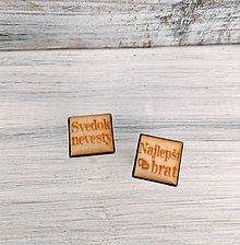 Šperky - Manžetové gombíky s textom živicové (svedok nevesty) - 11061945_