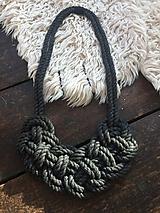 Náhrdelníky - Pletený šedý - 11061972_