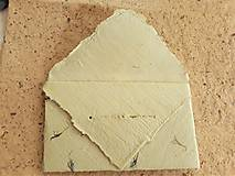 Papiernictvo - Origami obálka z ručného papiera-jemnučko zelena - 11064021_