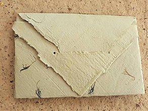 Papiernictvo - Origami obálka z ručného papiera-jemnučko zelena - 11064019_