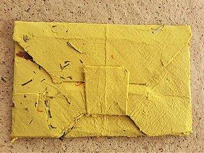 Papiernictvo - Origami obálka žltá - 11064095_