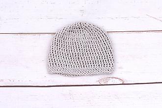Detské čiapky - Béžová letná čiapka BIO/ORGANIC - 11063310_