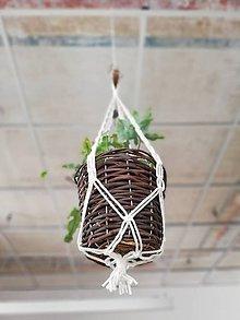 Dekorácie - Macrame držiak na kvetináč 51cm - 11062395_