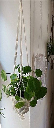 Dekorácie - Macrame držiak na kvetináč 89cm - 11062504_