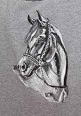 Tielka - Dámske tielko maľované  koník - 11065562_