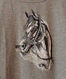 Tielka - Dámske tielko maľované  koník - 11065559_
