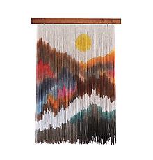 """Dekorácie - Nástenná dekorácia z dreva a vlny """"Slnečná balada"""" - 11065298_"""