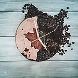 Hodiny - Coffee Time 3 - Živicové drevené hodiny - 11065545_