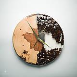 Hodiny - Coffee Time 3 - Živicové drevené hodiny - 11065546_