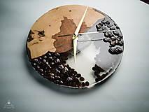 Hodiny - Coffee Time 3 - Živicové drevené hodiny - 11065547_